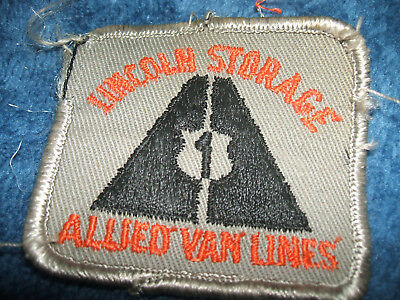 Collectible Sew On Lincoln Storage Allied Van Lines 1960's Patch