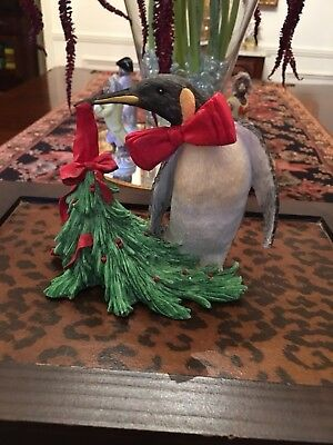 """Christmas Animals Collection Silver Deer """"Penguin"""" Figurine Tom Rubel + more"""