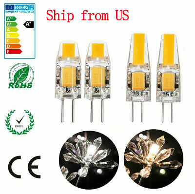 10X G4 LED 12V AC/DC COB Light 3W 6W High Quality LED G4 COB Lamp Bulb Dimmable