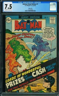 Batman Giant Edition #1 CGC 7.5 -Single Highest Graded-South African-Silver Age
