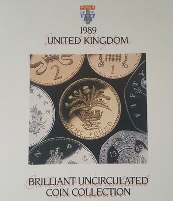 1989 United Kingdom Brilliant Uncirculated Coin Collection - 7 Coins.