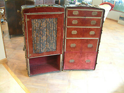 Antique Steamer Trunk Wardrobe
