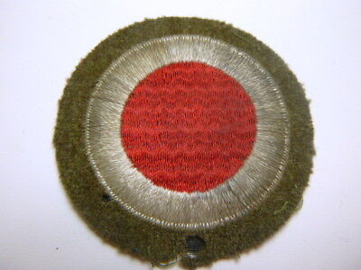 A  Pre   WW 2 U S Army 37th Division Embroidered Wool over Black Gauze Patch