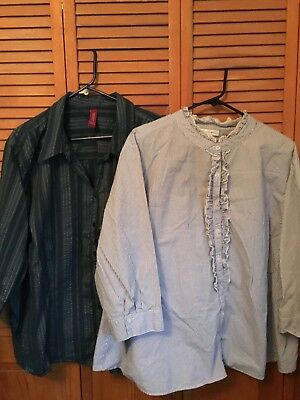 Lot Woman's Plus Sz Blouses Tops Sz 30/32 EUC Fashion Bug and Gitano