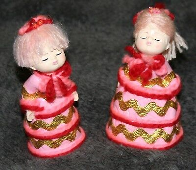 Set Of 2 Vintage Kissing Christmas Angels Made In Japan