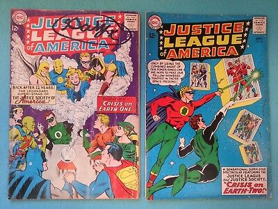 Justice League of America 21 & 22, 1963 Silver Age DC Comic, Classic Key Issues