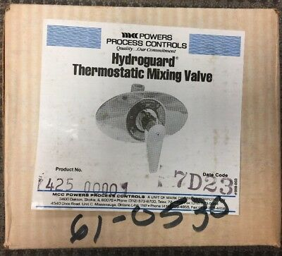 MCC Powers Process Controls Hydroguard Thermostatic Mixing Valve New