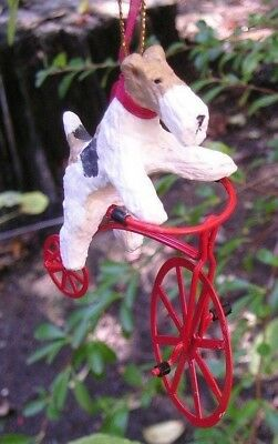 Wire Fox Terrier Metal BICYCLE Ornament!