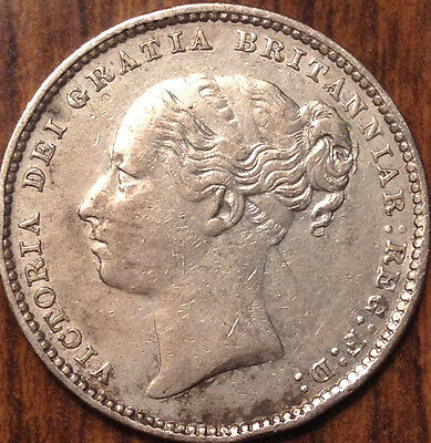 1879 Uk Gb Great Britain Silver Shilling In Magnificent Condition !!