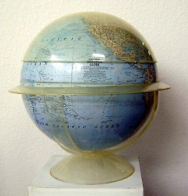 "Vintage Desktop National Geographic 12"" Globe by Replogle Copyright 1962"