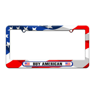 AMERICAN FLAG U.S. NAVY License Plate Frame PATRIOTIC USA BLACK Tag ...