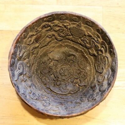 Tibet Nepal Bowl Collectible carved or moulded