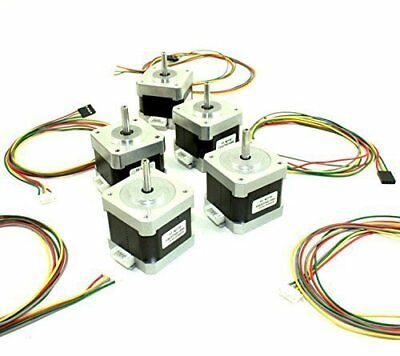 5 Pcs NEMA 17 42 Stepper Motor with Wires for 3D Printer or CNC RepRap Guru