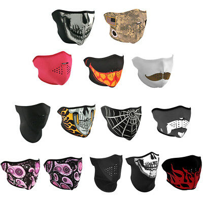 Zanheadgear Neoprene Half Face One Size Motorcycle Half Mask