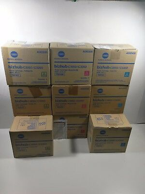 Lot of 11 Genuine Konica TNP48 CMY Toner Bizhub A5X0430 A5X0330 A5X0230 New Oem