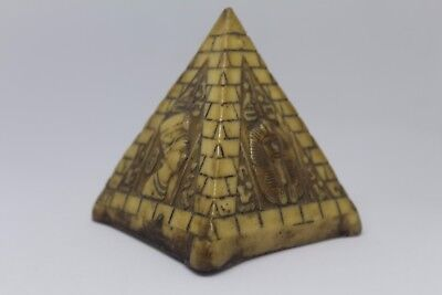 Old Antique Egypt Pyramid Engraving Pyramids Art View Great (Free Shipping)