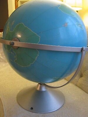 "Nystrom & Co. 16"" project globe scale 500 miles to the inch"