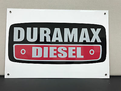 Duramax diesel advertising sign garage