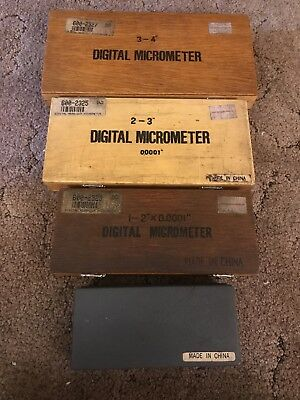 "Pre-owned Digital Micrometer Set (4) 0""-4-Sold by Enco Manufacturing Company"