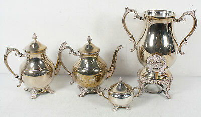 F.B. Rogers Silver Plated Tea Coffee 4 Pcs. Set Lot