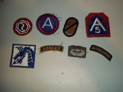 Wwi Wwii Korean War Vietnam Us Army Patch Lot #135