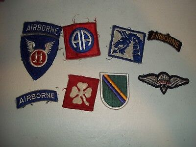 Wwi Wwii Korean War Vietnam Us Army Patch Lot #136
