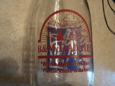 Rare D & M Dairy Farm Milk Bottle W/Lots of Advertising