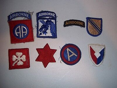 Wwi Wwii Korean War Vietnam Us Army Patch Lot #138