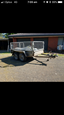 CARAC TANDEM TRAILER WITH CAGE 2 ton rated rego