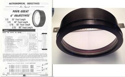 """6"""" F/10, f=60"""" refractor lens in aluminum cell, Jaegers?"""