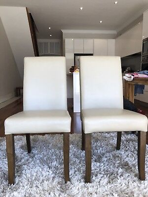 6 Nick Scali Leather Dining Chairs
