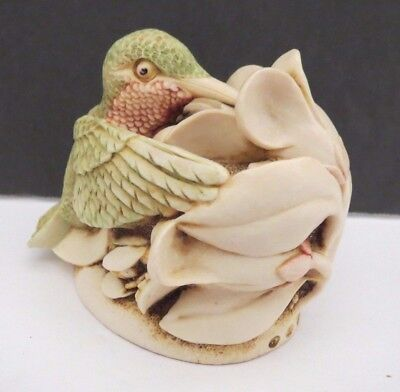 "1995 Harmony Kingdom ""Sweet Serenade"" Hummingbird Figurine Box Made in England"