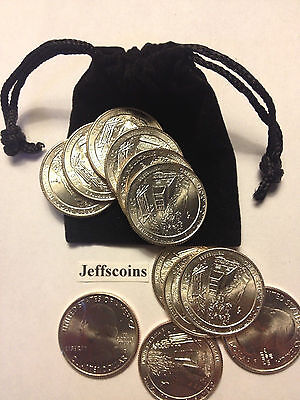 12x 2017 P D George Rogers Clark Nat Park Quarter +Gift Bag Low Cost 2nds ATB PD