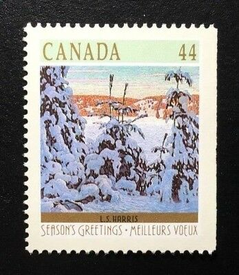 Canada #1257as Right MNH, Christmas Winter Landscapes Booklet Stamp 1989
