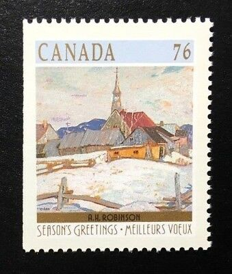Canada #1258as Left MNH, Christmas Winter Landscapes Booklet Stamp 1989