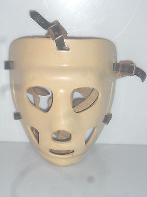 *41017stryclr Vintage GOALIE MASK with Leather Straps Jason Mask NHL Collectible