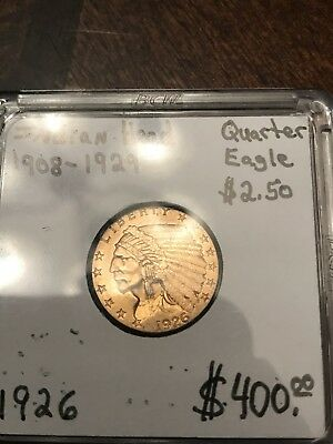1926 $2.50 Gold Indian Head