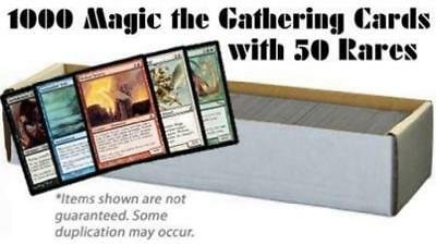 1000 Magic the Gathering Cards with 50 Rares (MTG) NM Lot