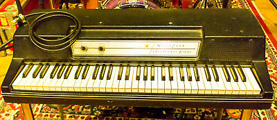 1970s Original Wurlitzer 200a Electric Piano Keyboard with Legs - Vintage Black