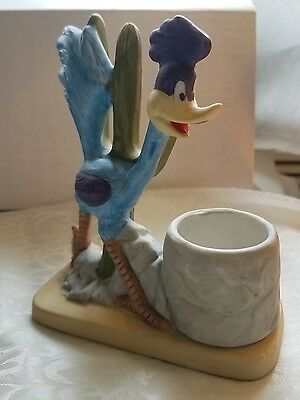 ROADRUNNER Figurine Vintage 1980 TOOTHPICK HOLDER Bisque WARNER BROS INC CMA