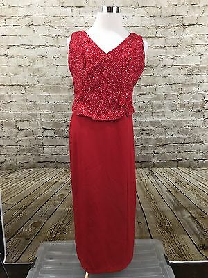 Lenovia Red Long Formal Gown Prom Party Dress XXL