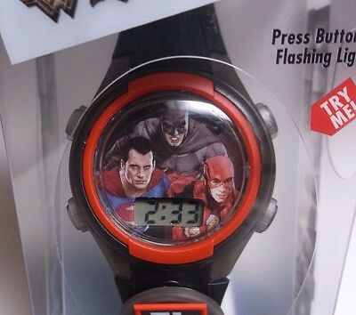 New Justice League watch Flashing Charm and Dial LCD watch Superman Batman Flash