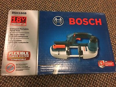 Bosch BSH180B 18-Volt 2-1/2-Inch Compact Cordless Band Saw NEW IN BOX