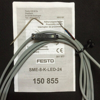 new festo sme 8 k led 24 150855 proximity switch oh01. Black Bedroom Furniture Sets. Home Design Ideas