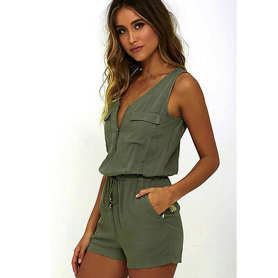 Fashion Women Sexy Jumpsuit Sleeveless Pants Bodysuit Party-wear Jumpsuits Top L