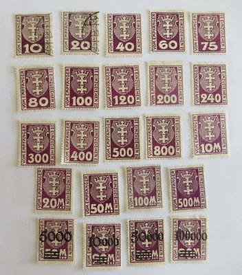 Germany 1921 - 23 Danzig small collection Postage Due most unused