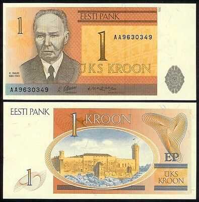 Estonia 1 Kroon 1992 P69 Uncirculated