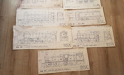 Gauge 1 Model Steam  Railway Vintage Carriage And Wagon Drawings