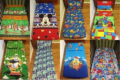 New Tigger, Mickey, Kungfu Panda, Lego, Cars Cot fitted sheet + pillowcase