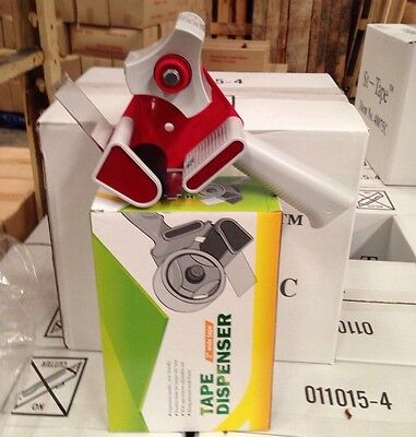 """Sticky Packing Tape Dispenser Gun - 2"""" Wide Tape + 2X FREE ROLL OF TAPE"""